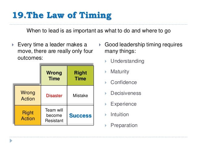 21 Rules Of Success: The 21 Irrefutable Laws Of Leadership Ppt