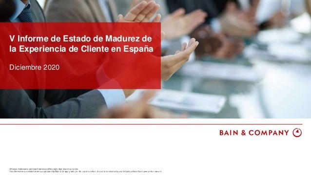 Diciembre 2020 V Informe de Estado de Madurez de la Experiencia de Cliente en España