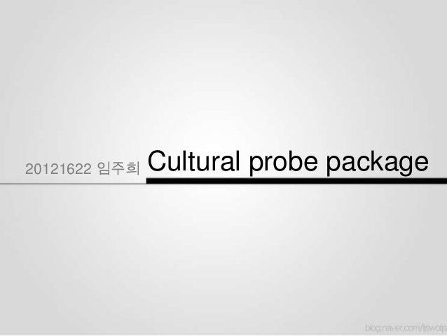 20121622 임주희   Cultural probe package