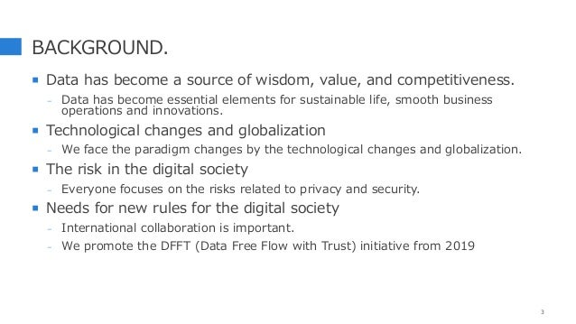 BACKGROUND.  Data has become a source of wisdom, value, and competitiveness. - Data has become essential elements for sus...