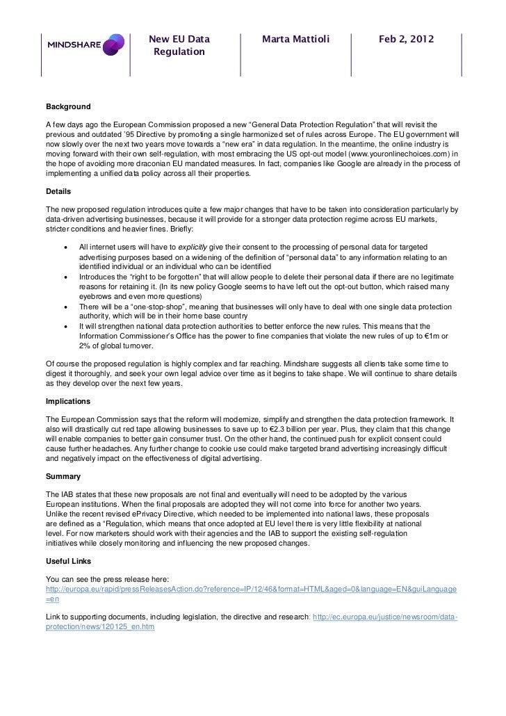 New EU Data                         Marta Mattioli                       Feb 2, 2012                                Regula...