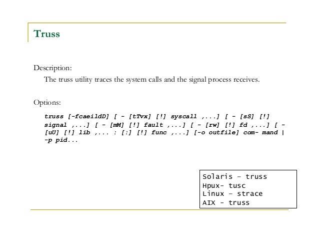 Unix commands on solaris aix hp linux | 64 bit computing | process.