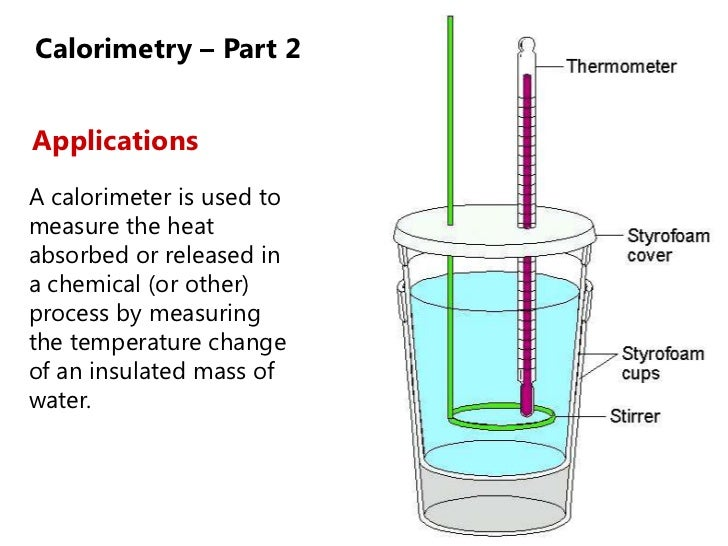 Lesson Enthalpy And Calorimetry