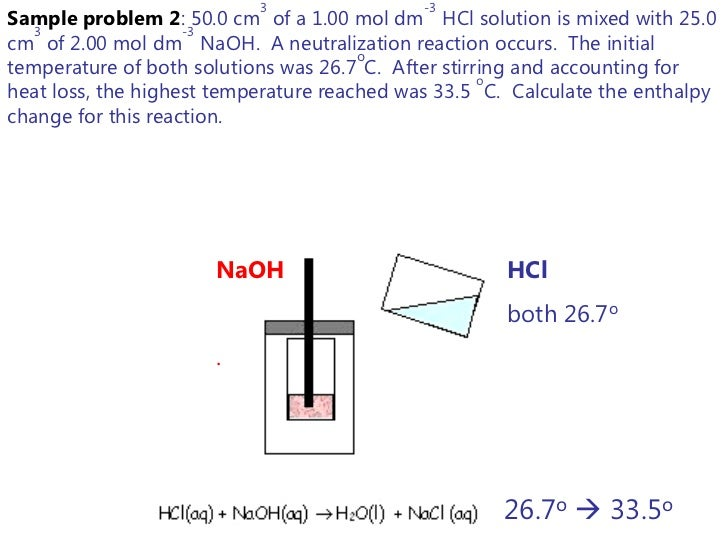 Lesson : Enthalpy and Calorimetry