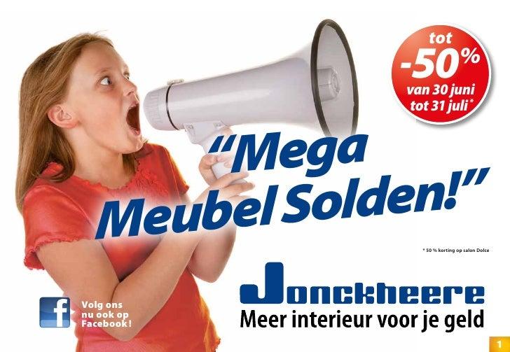 "tot             -50             van 30 juni                                %              tot 31 juli *     ""M ega  Meubel..."