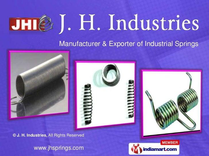 Manufacturer & Exporter of Industrial Springs<br />
