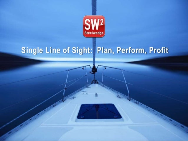 Single Line of Sight: Plan, Perform, ProfitPlan. Perform. Profit.   © 2012 Steelwedge Software, Inc. Confidential.   1
