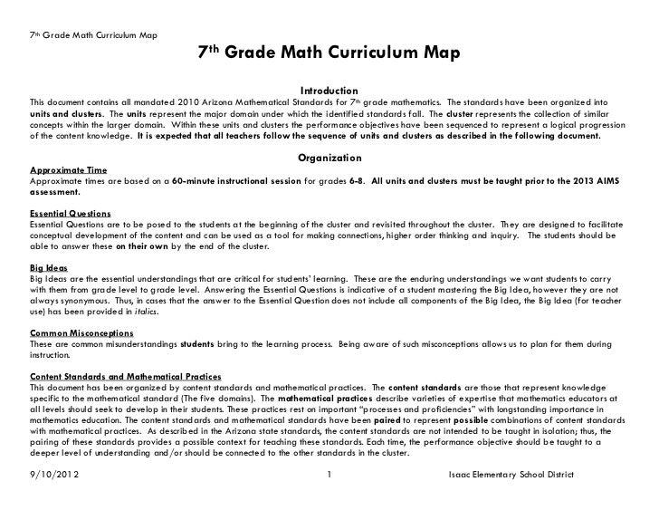 7th Grade Math Curriculum Map                                           7th Grade Math Curriculum Map                     ...