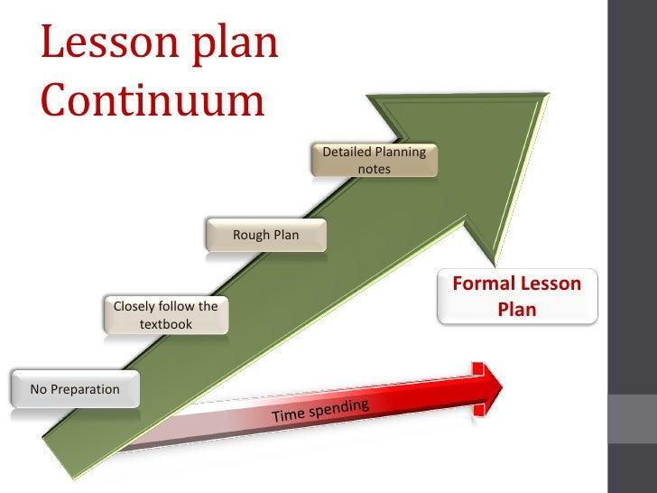 Lesson plan Continuum                                              Detailed Planning                                      ...