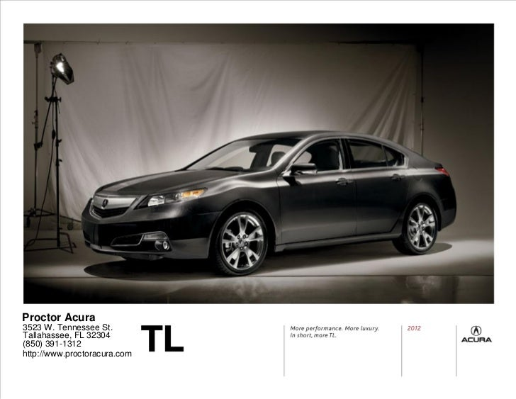 2012 Acura TL For Sale in Tallahee FL   Proctor Acura