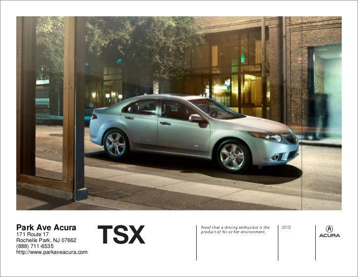 Acura TSX For Sale NJ Acura Dealer In New Jersey - Park ave acura parts