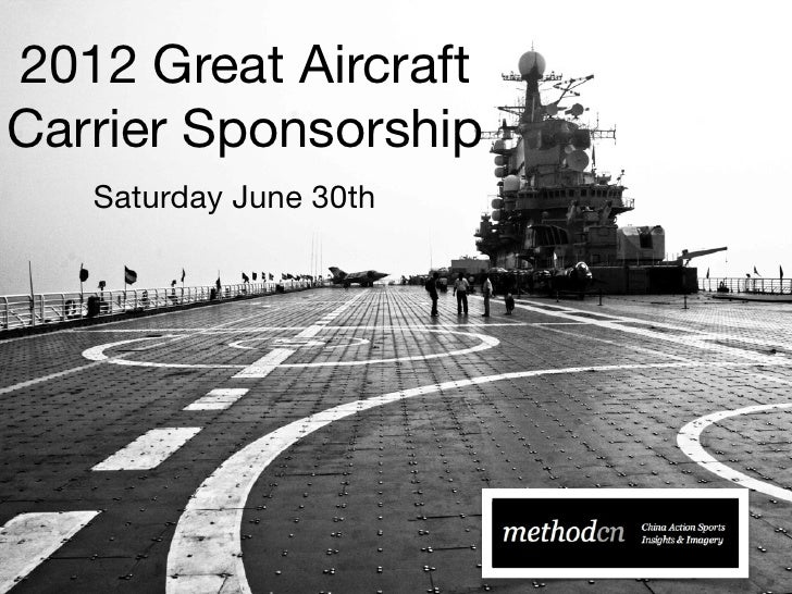 2012 Great AircraftCarrier Sponsorship   Saturday June 30th