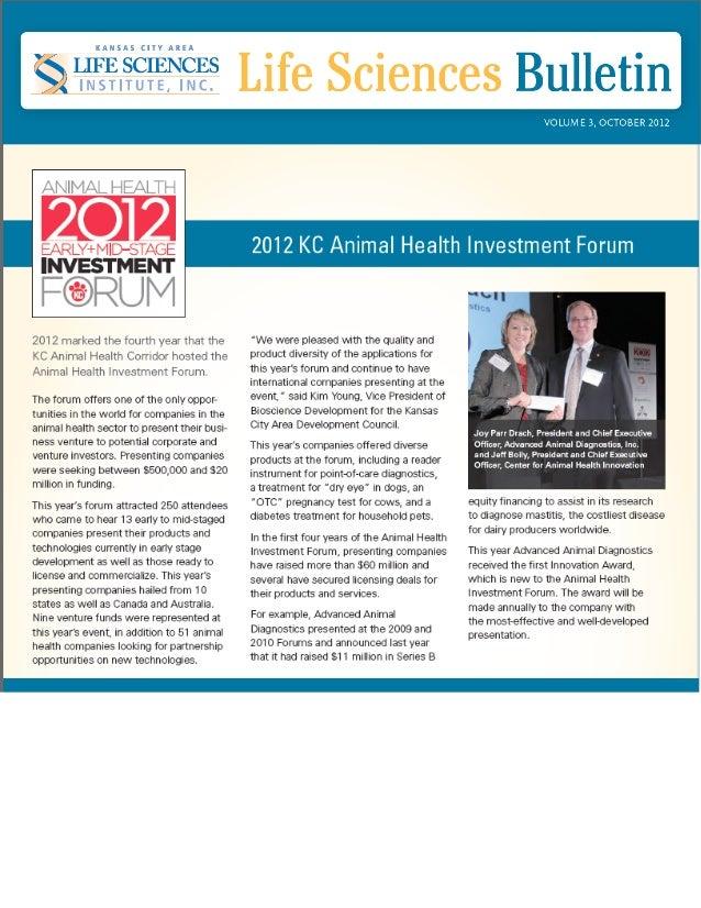 2012 Animal Health Investment Forum / KCALSI bulletin-2012