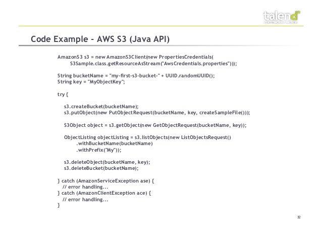 Code Example - AWS S3
