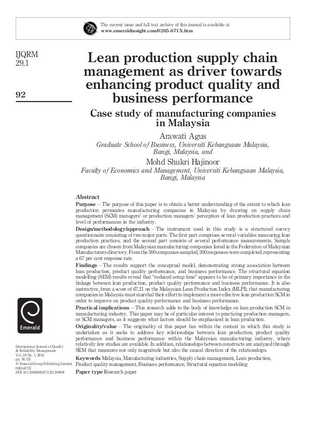 a study of lean practices in a business This study contributes to the development of a didactic perspective to the process, assisting in the implementation of the lpd, leveling lean knowledge and facilitating the learning and the systemic implementation of the lean tools and practices applicable to the pd process of agroindustries and other fields of the manufacturing industry.
