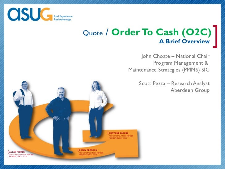 Quote                   / Order To Cash (O2C)                                                                             ...