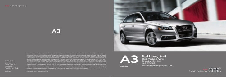 Audi Truth in Engineering                                                                                       A3        ...