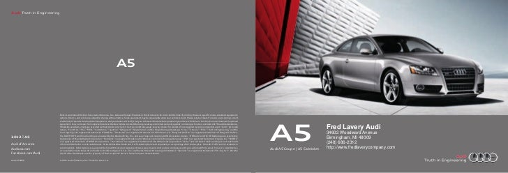 Audi Truth in Engineering                                                                                       A5        ...