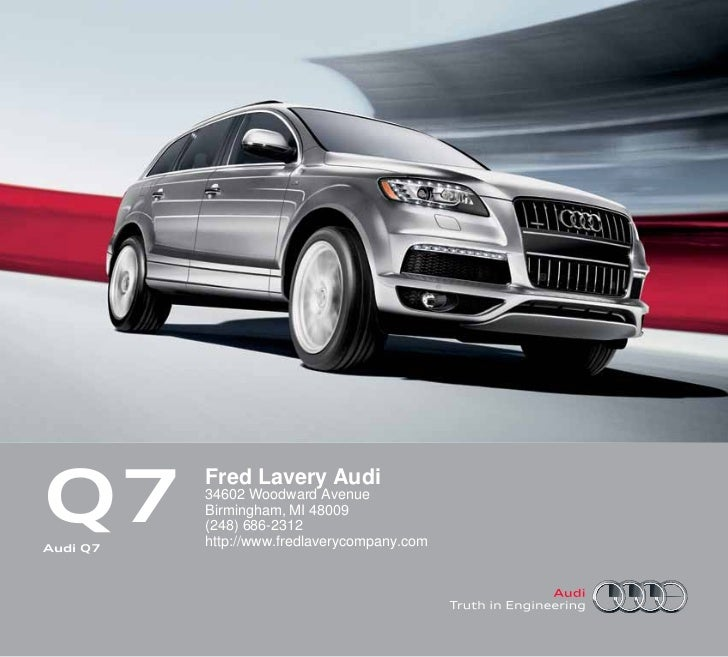 2012 Audi Q7 For Sale Mi Audi Dealer Near Detroit