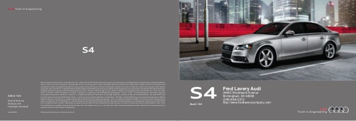 Audi Truth in Engineering                                                                                      S4         ...