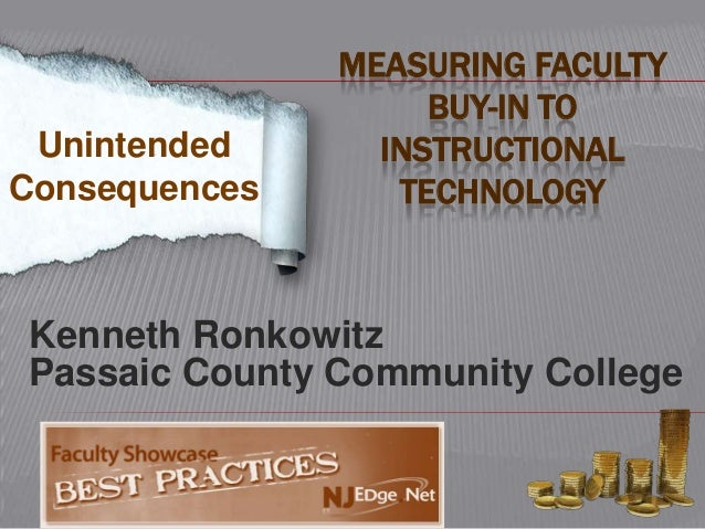 MEASURING FACULTY                    BUY-IN TO Unintended      INSTRUCTIONALConsequences      TECHNOLOGYKenneth RonkowitzP...