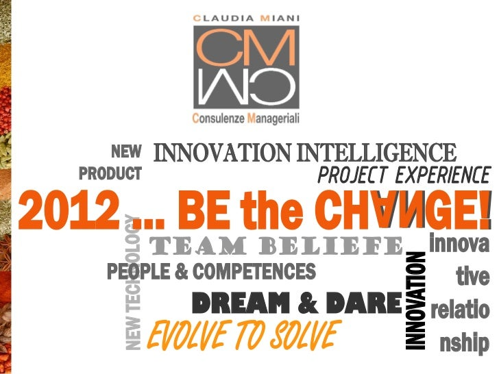 NEW              INNOVATION INTELLIGENCE   PRODUCT                           PROJECT EXPERIENCE2012 … BE the CH GE!       ...