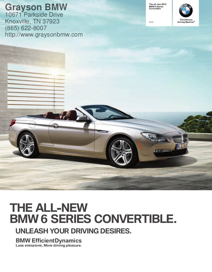 2012 Bmw 6 Series Convertible For Sale Tn Bmw Dealer In Knoxville