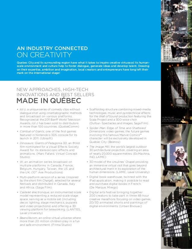 Multimedia creation brochure
