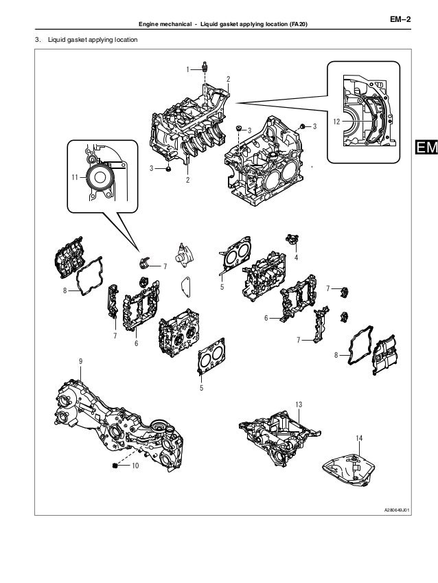 2012 brz engine service manual rh slideshare net