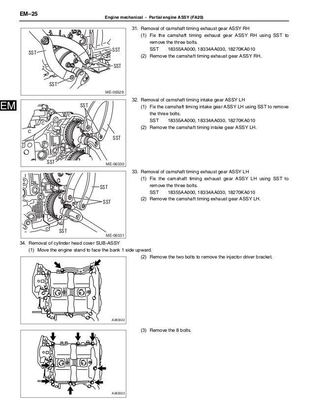 2012 BRZ engine service manual
