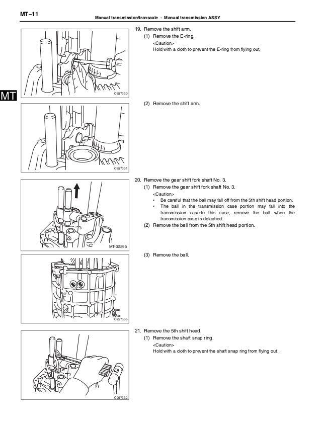 2012 BRZ transmission service manual