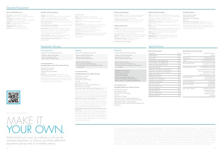 2012 Buick Enclave Brochure