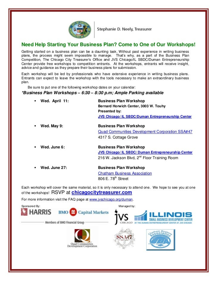 Need Help Starting Your Business Plan? Come to One of Our Workshops!Getting started on a business plan can be a daunting t...
