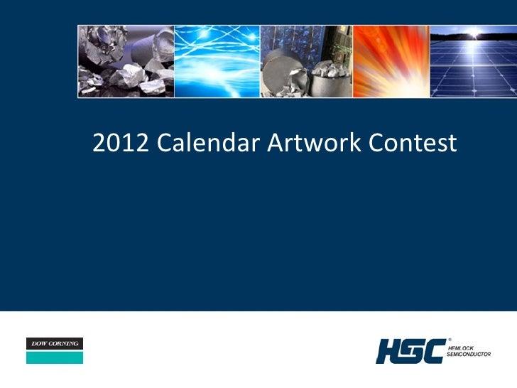 2012 Calendar Artwork Contest
