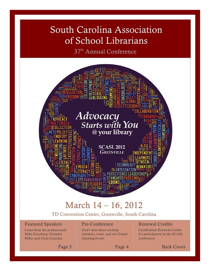 South Carolina Association                    of School Librarians                                37th Annual Conference  ...