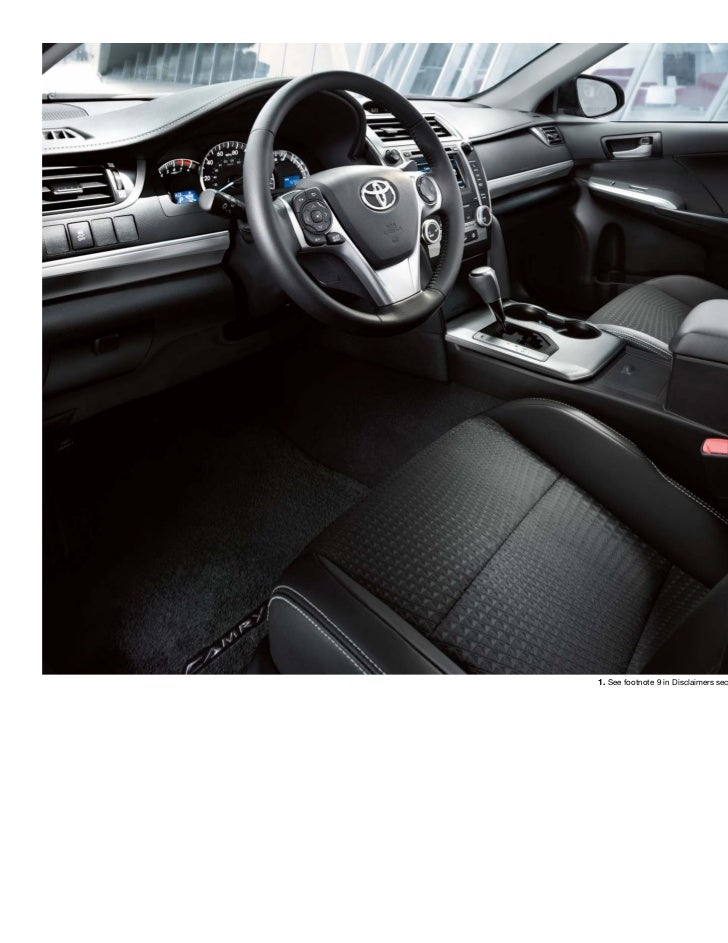 2012 Toyota Camry Brochure In Tampa Florida Dealer