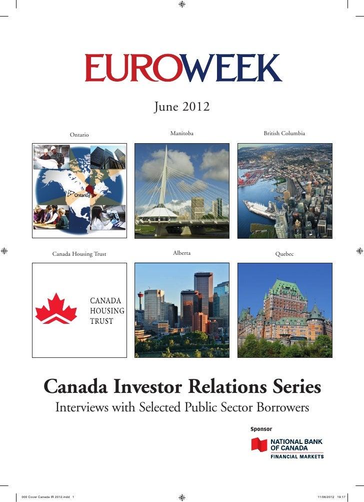 June 2012                            Ontario        Manitoba        British Columbia                  Canada Housing Trust...