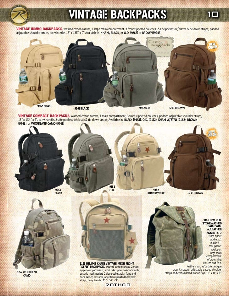 45ddeb3f9 2012 Rothco Canvas Collection
