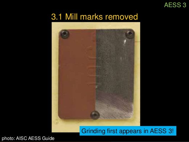 AESS 3      3.1 Mill marks removedExample of mill mark show through.