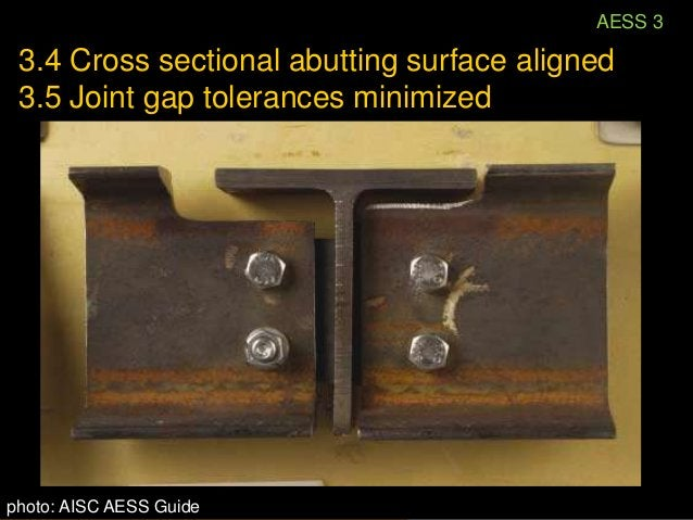 3.5 Joint gap tolerances minimized                Required to accommodate                complexity and alignment