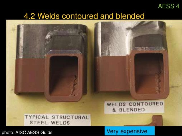 AESS 44.2 Welds contoured and blended