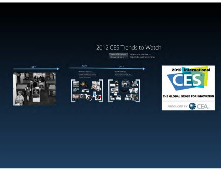 2012 ces trends to watch dubravac