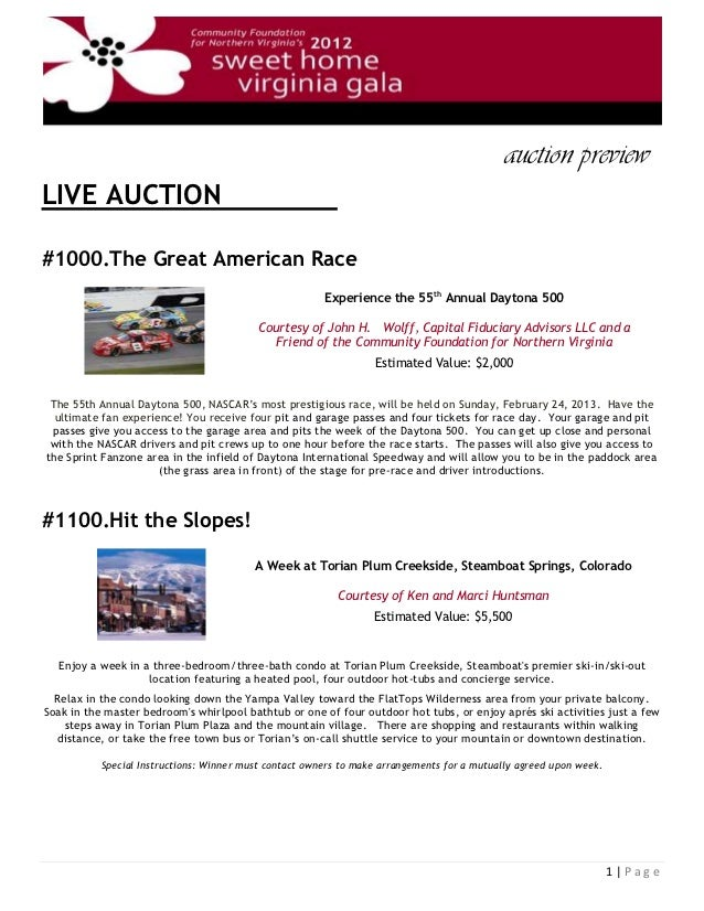 auction preview lLIVE AUCTION                                               l#1000.The Great American Race                ...