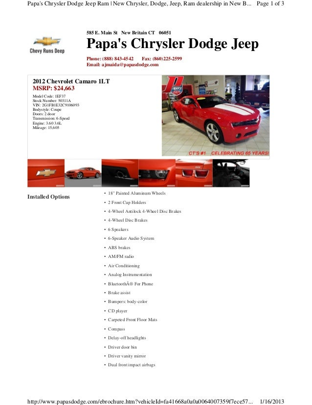 Papas Chrysler Dodge Jeep Ram | New Chrysler, Dodge, Jeep, Ram dealership in New B... Page 1 of 3                         ...