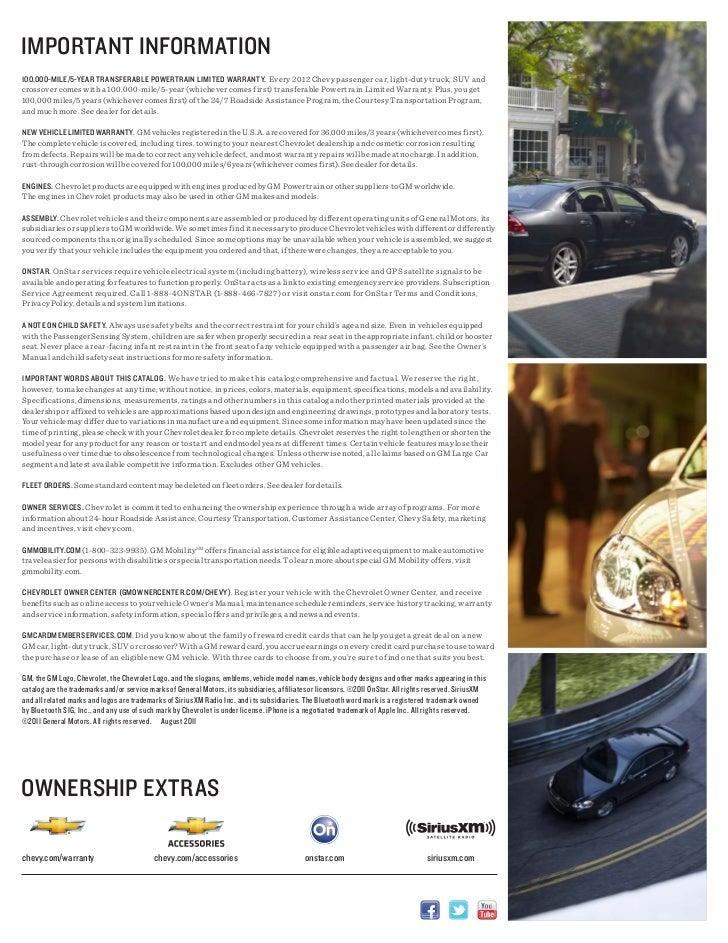 2012 Chevrolet Impala e-Brochure