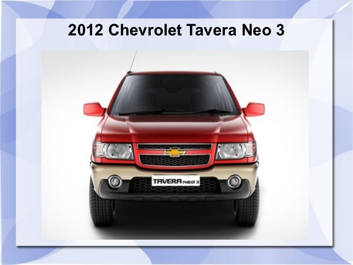 2012 Chevrolet Tavera Neo 3 India