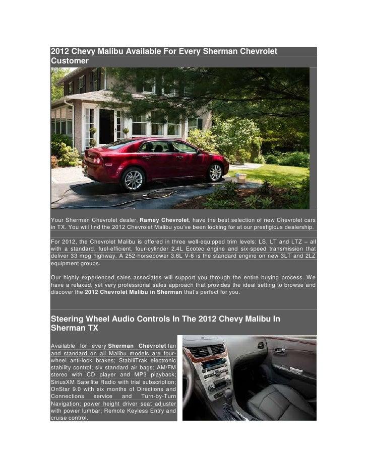 2012 Chevy Malibu Sherman Customers