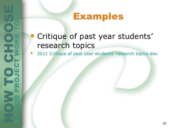 choosing a research topic pdf