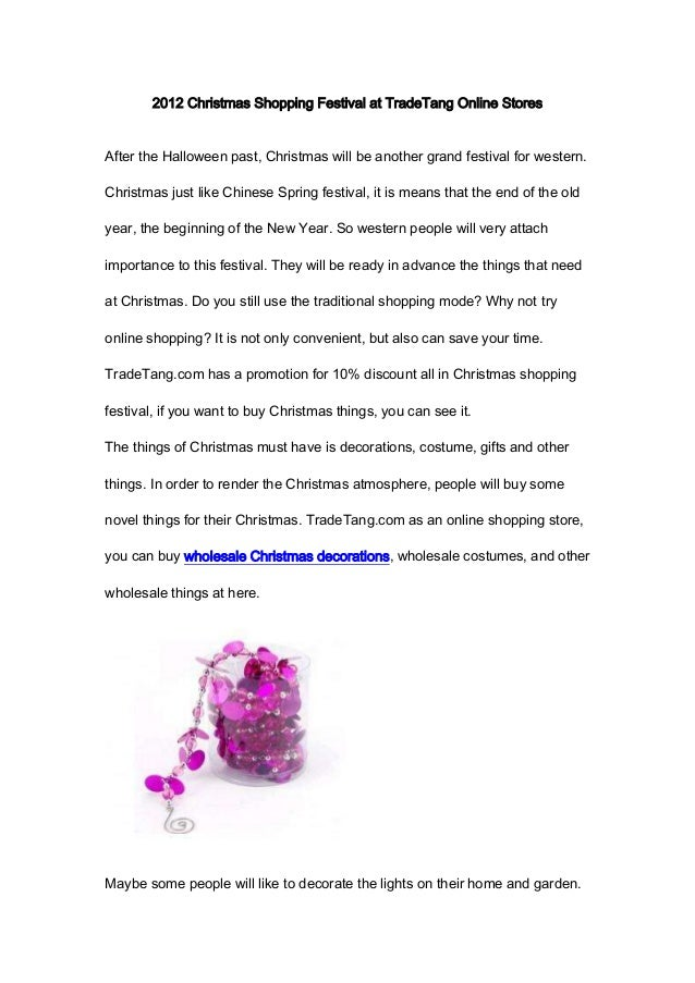2012 christmas shopping festival at tradetang online storesafter the halloween past christmas will be another