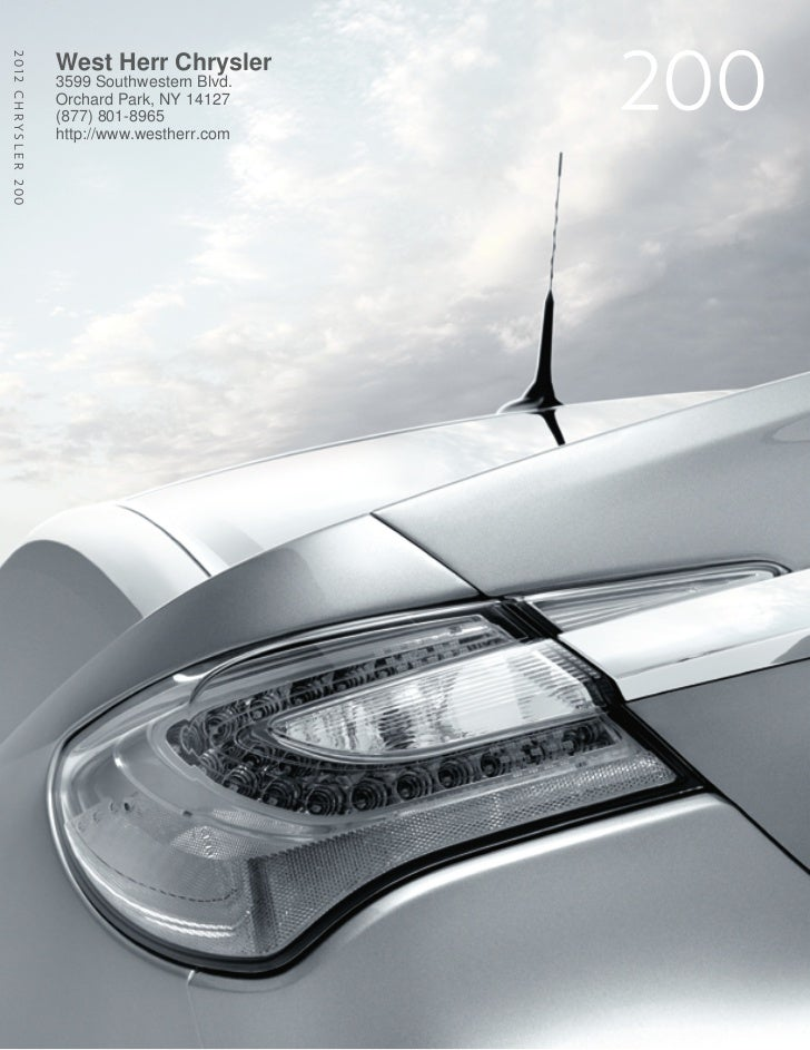 2012 C h r y s l e r 200                           West Herr Chrysler                           3599 Southwestern Blvd.   ...